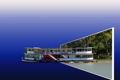 Paddle Steamer 3D Effect
