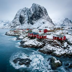 Grey skies but still, these views do not disappoint. Lofoten islands, Norway.