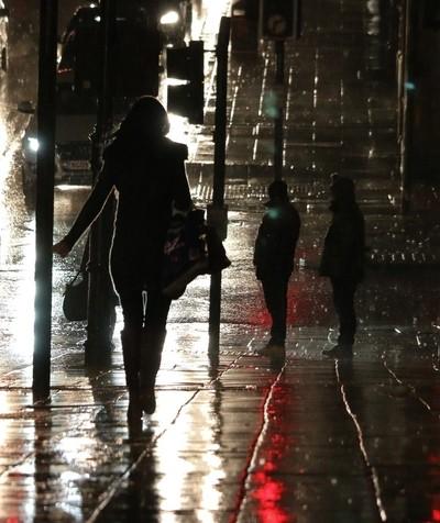 Wet night in Newcastle