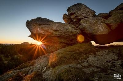 Sunset on the mountain 01