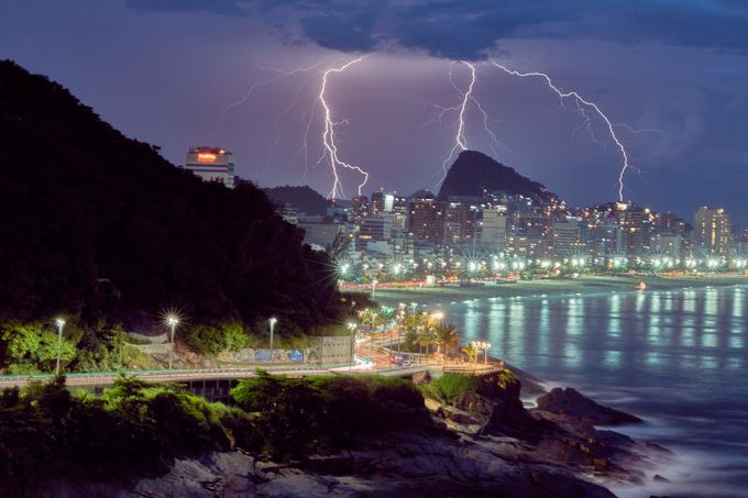 Brasil Rio de Janeiro  by Wolfbroadcast - Color In The Night Photo Contest