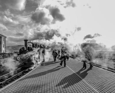 Porthmadog steam train north Wales