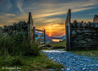 Sunset through the gate