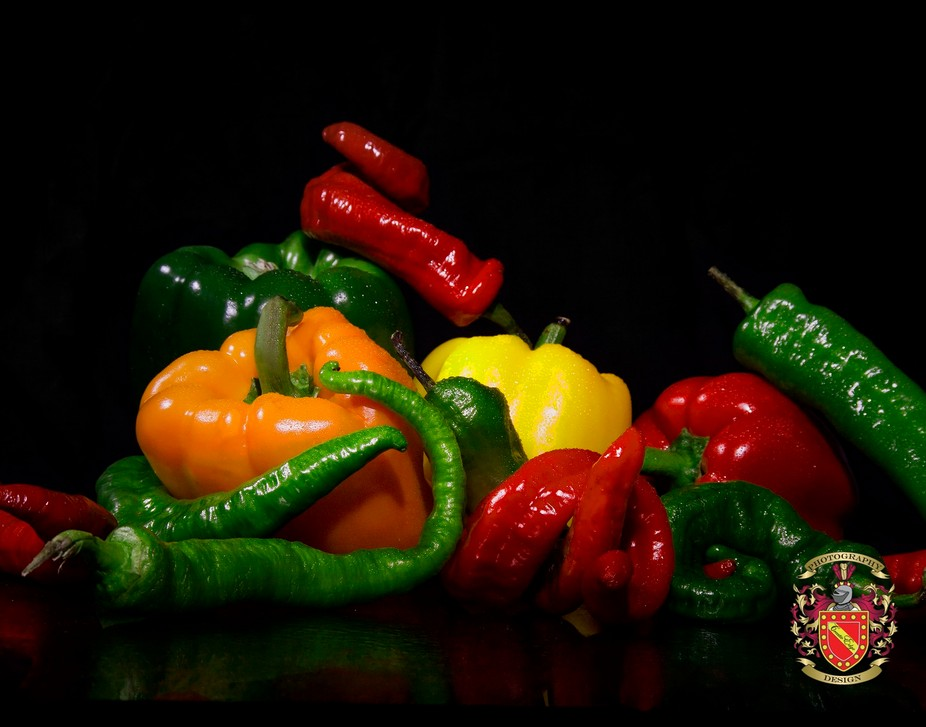 Color me peppers.  I love the texture of the peppers, the curves and the distinction yet original...