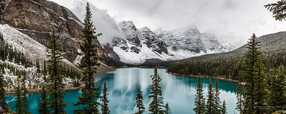 This is one view that never gets old to me! Moraine Lake in Banff National Park, Alberta