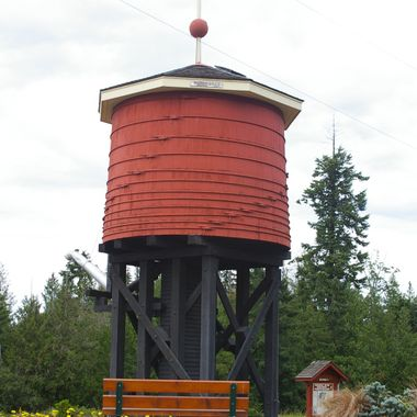 Parksville first old water tower - 26th June 2007