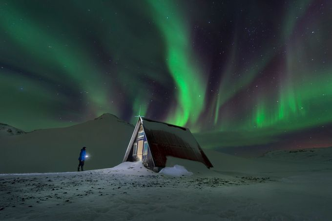 iceland_olafsvik_cabin_northern_lights_01 by gilesrrocholl - Iceland The Beautiful Photo Contest