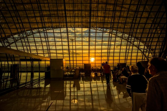 Morning at the airport . by ChristerW - Public Transport Hubs Photo Contest