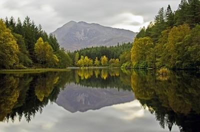 Reflections at Glencoe Lochan