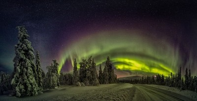 The Aurora Night In Lapland