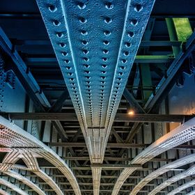 Photo of the Blackfriars' railway bridge from below, London, UK