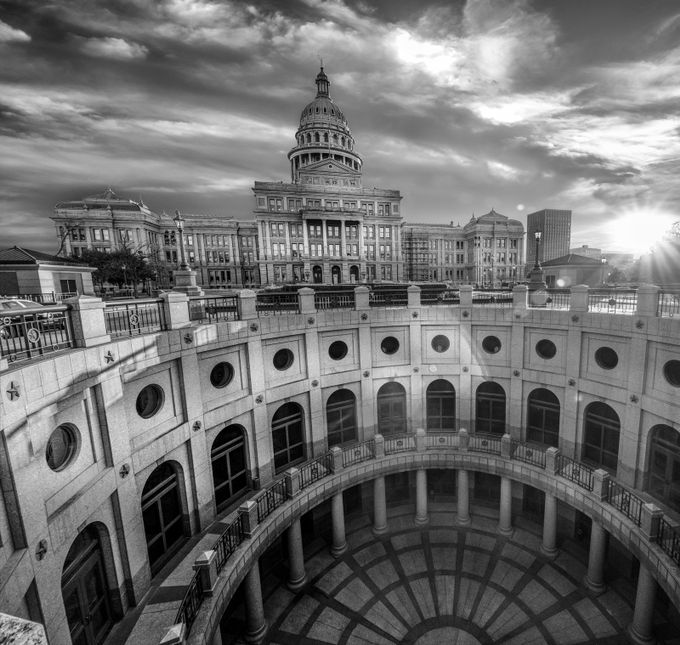Austin Capitol by Christopherblake_photo - Composing with Curves Photo Contest