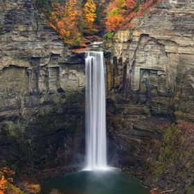 Taughannock Falls dressed in autumn colors.
