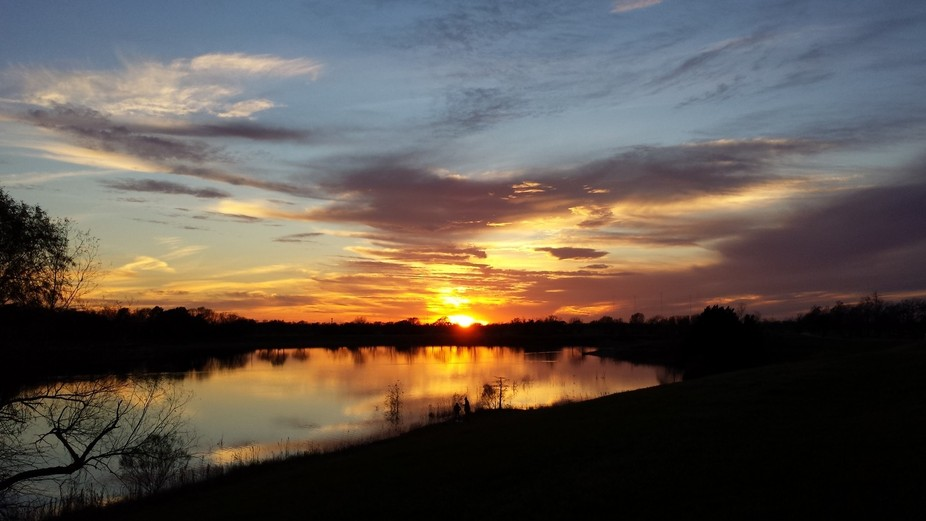 Texas Sunset by the Lake