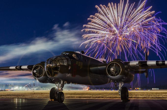 B-25 Fireworks by kenmcall - Aircraft Photo Contest