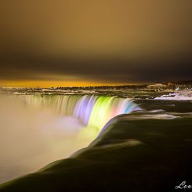 At the brink of the Canadian Horseshoe Falls on a cold February night. I live about 15 minutes away,have been here 100's of times since the ...
