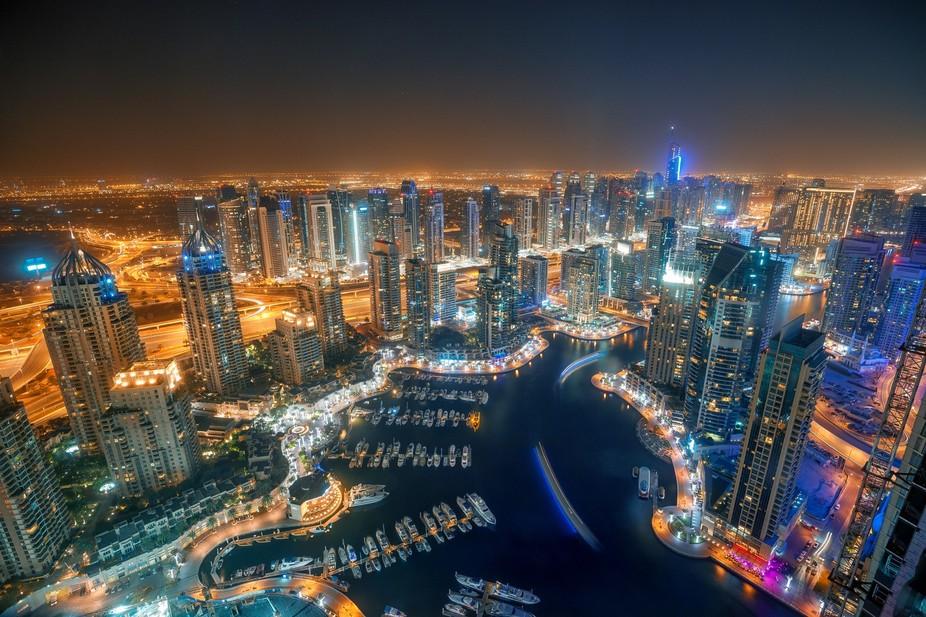Marina Bay Area in Dubai