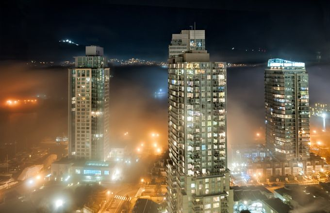 Vancouver Fog by kaybeausoleil - City In The Night Photo Contest