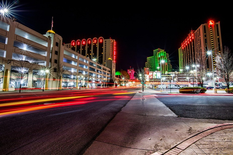 City lights in downtown Reno!