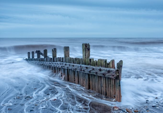 Hornsea Groynes by phillg - Composing with Diagonals Photo Contest
