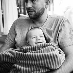 Father Franz and his son Franz. We adults were partying the night before. Just the little Franz was well rested :) I took this photo with a Leica...