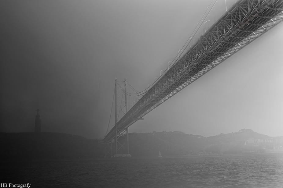 """Portuguese Bridge called """" 25 Abril bridge"""" or """" Salazar Bridge&qu..."""