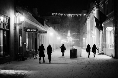 snowstorm in old town