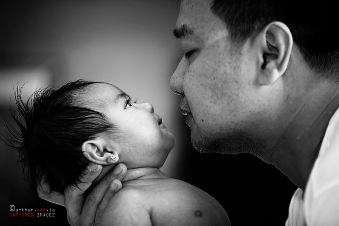 A Precious Gift by arthurcomia - We Love Our Dads Photo Contest