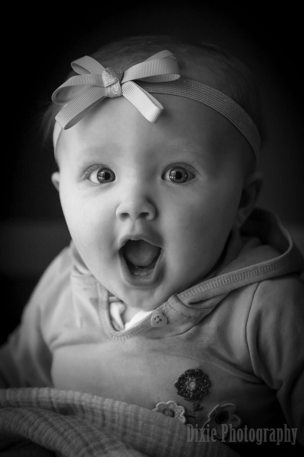 My Adorable Grandaughter by dixiejbrumm - Babies In Black And White Photo Contest