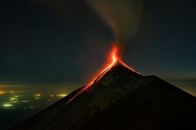 The Acatenango Volcanic Eruption