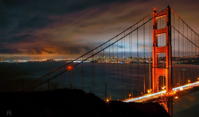 Two Bridges by Allen66 - City In The Night Photo Contest