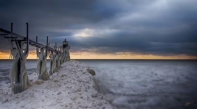 Sunset Lake Michigan