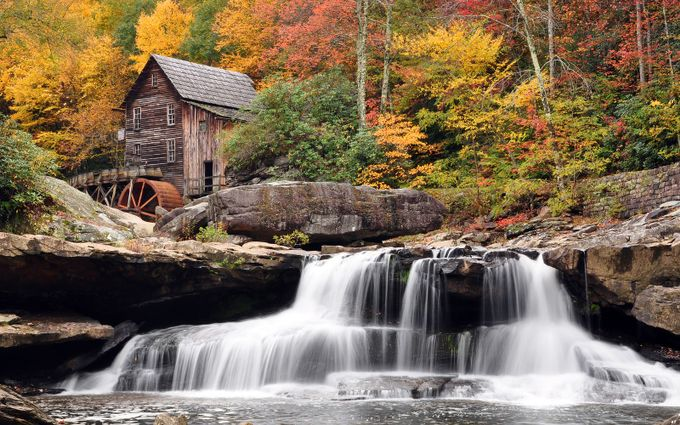 Grist Mill in Babcock State Park, WV - 1996 by David_Blakley_Photography - Fall 2016 Photo Contest