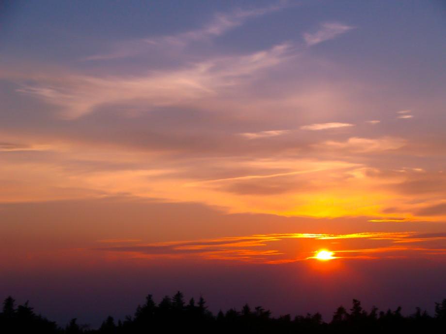 Beautiful summer night on Mt Greylock the highest peak in Massachusetts