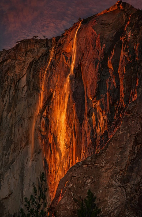 Fire on the Mountain by nina050 - Spectacular Cliffs Photo Contest