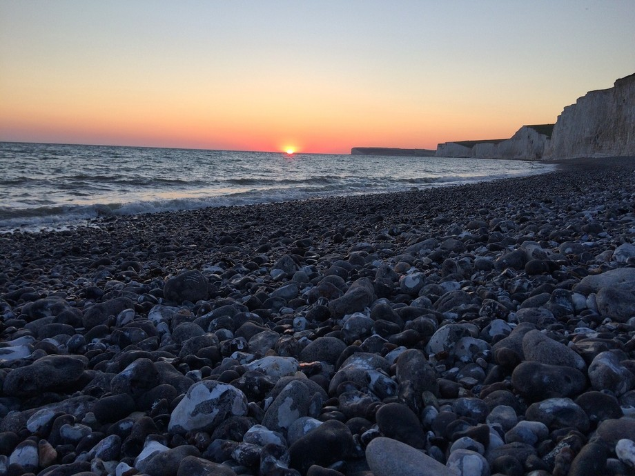 Sunset at Birling Gap, East Sussex