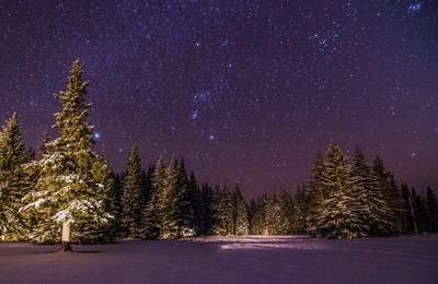 Starry night at Bragg Creek