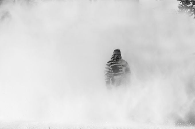 Snowboarding in Livigno by karolispipiras - Composing with Negative Space Photo Contest