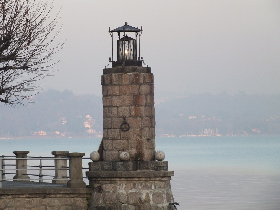 The light for Lesa Habor on lake Maggiore Italy