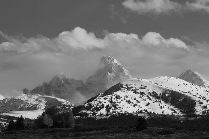 tetons3 by janetcannon - Black And White Mountain Peaks Photo Contest