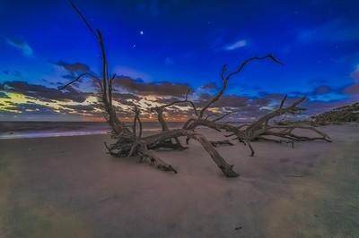 Venus Jupiter Mars at Twilight