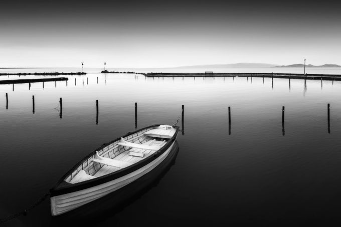 boat and his story by tadejturk - The Water In Black And White Photo Contest
