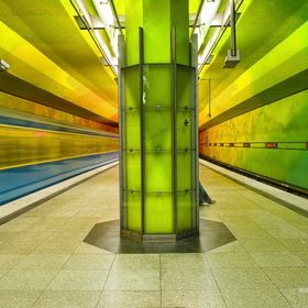 "Subway ""U-Bahn"" station at Candidplatz, Munich"