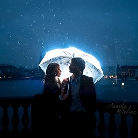 Rain, Blue, love, romantic were combined to describe how their love unite them.   Annika and Julian, the lovely couple was captured in the rainy ...