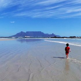 Table mountain, Cape Town. Big bay Beach...was lucky to have a clear stretch of beach at the time ! One of my all time favourite snaps :)
