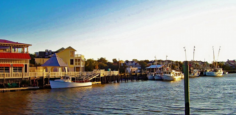 View of boats Shem's Creek SC