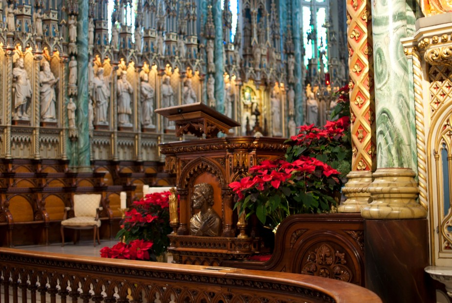 Visited just after Christmas and I thought the main altar with the poinsettias was beautiful