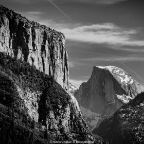 Had to start my Yosemite pictures with an iconic black and white of Half Dome