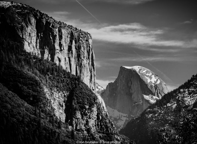 Half Dome in B/W by Bruz - Black And White Mountain Peaks Photo Contest