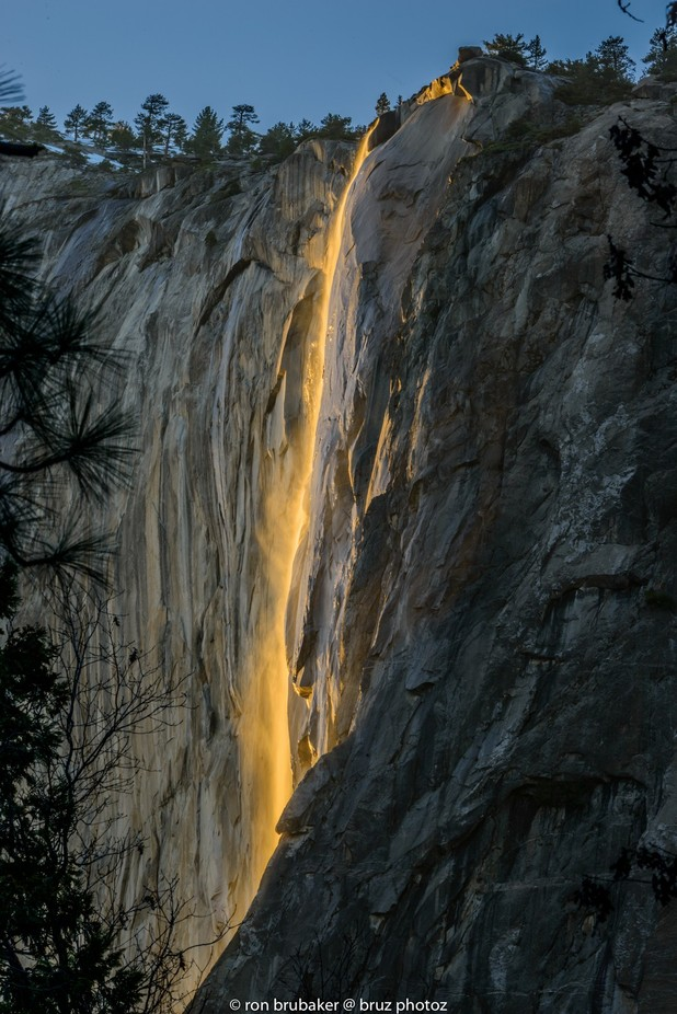Yosemite Fire Falls.  Project 52 week 8 by Bruz - Adventure Land Photo Contest Outside Views